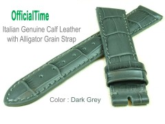 22/18mm Calf Leather with Alligator Grain Strap (5 colors)