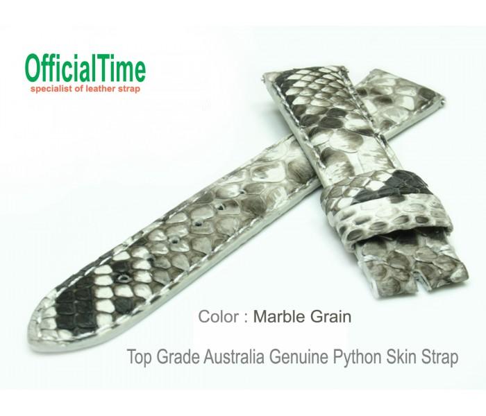 for FM6850 - 19/16mm Australia Python Skin Strap (4 colors)