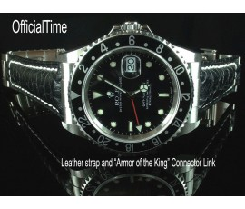 Rolex GMT Master #16700 Style - 20/16mm Buffalo Leather Strap (3 colors)