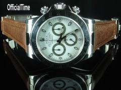 Rolex Daytona #16520 Style - 20/16mm Bull Leather Strap (2 colors)