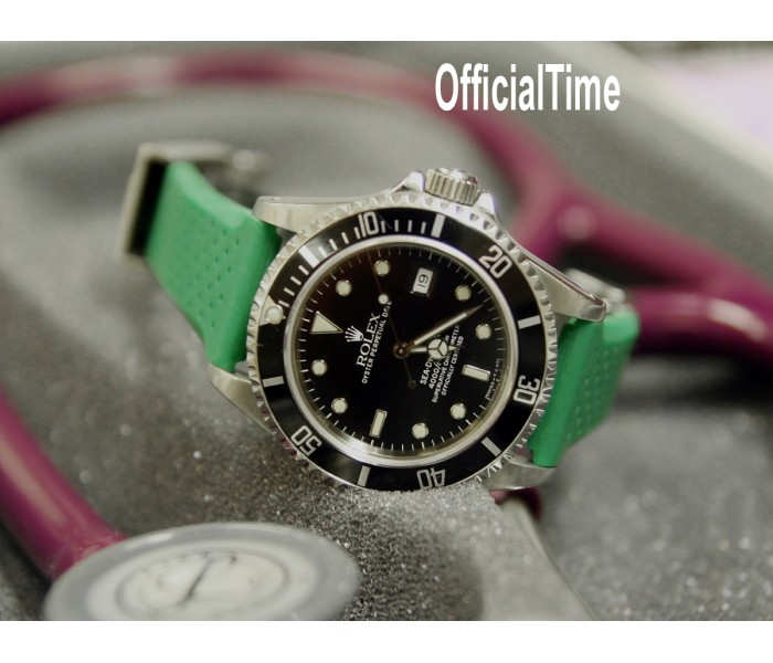 Rolex Sea Dweller #16600 Style - 20/16mm Breathable Rubber Strap (7 colors)