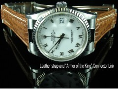 Rolex Datejust #16234 Style - 20/16mm Shark Skin Strap for Oyster (3 colors)