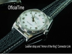 Rolex Datejust #16220 Style - 20/16mm Shark Skin Strap for Oyster (4 colors)