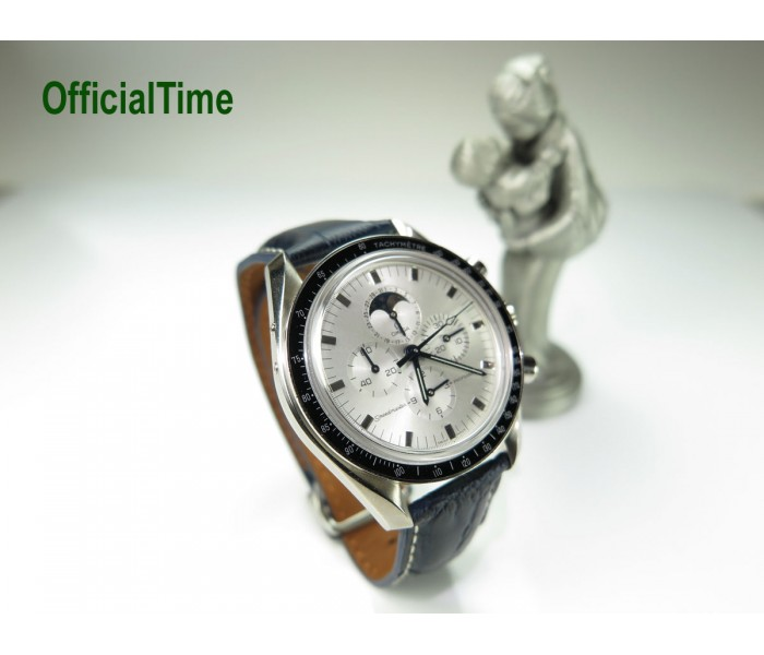 OMEGA Style - 20/18mm Calf Leather with Alligator Grain Strap (4 colors)