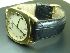 Baume & Mercier Style - 19/16mm Calf Leather with Alligator Grain Strap (5 colors)
