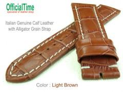 22/20mm Alligator Grain Calf Leather Strap (4 colors)