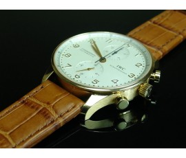 IWC Style - 20/18mm Italian Calf Leather with Alligator Grain Strap (5 colors)